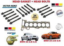 Para BMW Z3 E36 Z4 2.8 3.0 E85 1998-2005 Junta de Culata + Tornillo Cabeza Set
