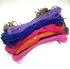 50-100FT 2mm diam Paracord Micro Cord Parachute Cord Tent Lanyard Rope Survival