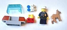 Lego Policeman Minifigure & Dog & Car Siren/Lights Pieces