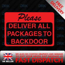 Personalizado de las instrucciones de entrega, por favor deje los paquetes signo de la etiqueta engomada