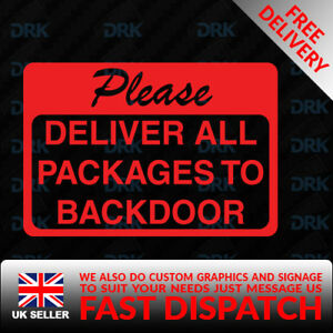 Personalised Please Leave Parcels Delivery Instructions sign