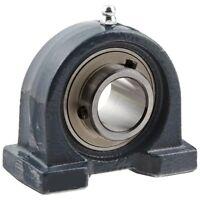UCPA207-22 1.3/8 Fuso 2-Bolt Ferro Corte Base Blocco Cuscinetto Auto Lube