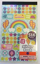 516 Rainbow Summer Flowers Beach Time Stars Stickers Party Favor Teacher Supply