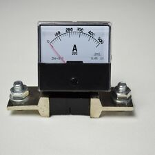 New DC 0-500A 500A + Shunt-Analog Amp Panel Meter Current Ammeter Top Quality