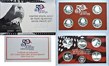 2007-S US Partial SILVER Proof Set 5 Cameo Coins  #af1