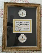 HB Henriot Quimper Pottery ORIGINAL Shadowbox Wall Framing VENDOR SIGN 21 x 29