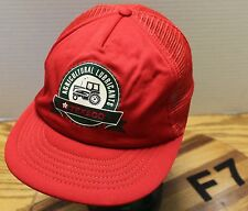 VINTAGE TEXACO AGRICULTURAL LUBRICANTS TRUCKER SNAPBACK HAT RED GOOD CONDITION