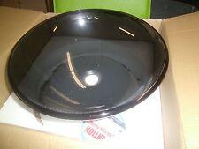 "Vigo VG07042  Sheer Black 16-1/2"" Glass Vessel Bathroom Sink"