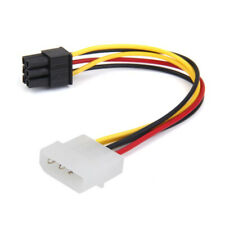 5X(4-Pin Male to 6-Pin Female socket Power Cable for PCIe PCI Express Adapt J2O9