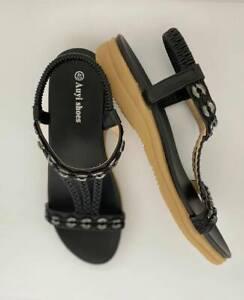 Sandals women's flat shoes designer auyi ladie's bridal resort women comfortable