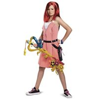Disney Kingdom Hearts Kairi Dress Cosplay Halloween Costume Teen Child Girls XL