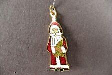 1996 Santa Claus Charm Decorative Arts Collection Commemorative Enamel Jewelry