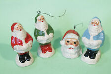Very Rare Lot of 4 Santa Claus Ornaments Figurines, from Argentina