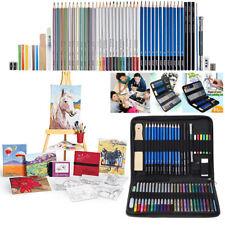 51pc Art Drawing Pencil Sketch Set Teens Adult Charcoal Paint Supplies Kit