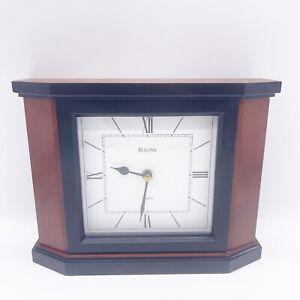 BULOVA Solid Cherry Wood Table/ Mantle/Shelf/ Desk Modern Quartz CLOCK B1881