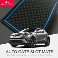 For TOYOTA C-HR 2017 Gate slot pad Interior Door Pad/Cup Non-slip red/blue/white