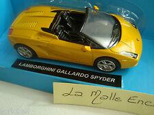 MINIATURE LABORGHINI GALLARDO SPYDER JAUNE 1/43°  NEW RAY NEUVE EN BOITE
