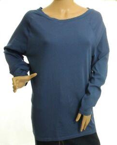 Ralph Lauren Women's Blue Stretch Top Size 1X Retail