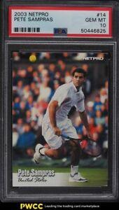 2003 Netpro Tennis Pete Sampras #14 PSA 10 GEM MINT