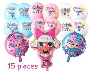 LOL Surprise Diva Doll Foil Balloons + Latex Balloons (15pcs) Helium Quality