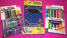 Crayola Pencil Locker & Sharpie Cosmic Colors & Papermate Handwriting Pens ~ New