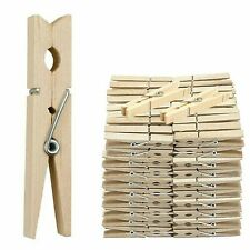 Wooden Clothes Pegs Clips Pine Washing Line Airer Dry Line Wood Peg Gardens