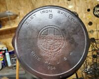 Griswold ~ Cast Iron Skillet ~ No 8 ~ 704 Erie Pa USA