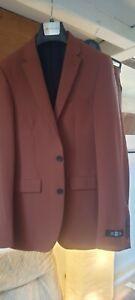 Brown Skinny Burton Suit 36r/32r