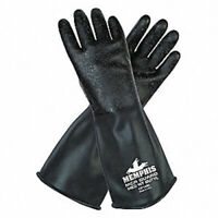 "MCR SAFETY CP14RL Chemical Resistant Gloves, L, 14""L, Rough"