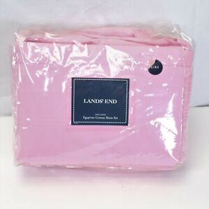 Lands End King Sheets Set 200 Ct Egyptian Cotton Pink Sealed Package