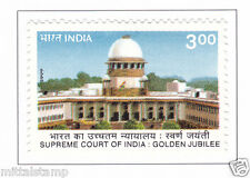 PHILA1721 INDIA 1999 SUPREME COURT OF INDIA GOLDEN JUBILEE MNH