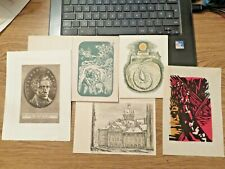 More details for    vintage graphic art mixed lot,5 pieces ,incl.etching #