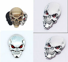 NiX C51S 3D Metal Sticker Skull Logo Bike Helmet Car Emblem Badge Sticker 1PC