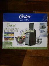 Oster Oskar 2-in-1 Salad Prep & Food Processor, Black Continuous Flow+ Processor