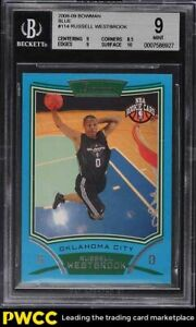 2008 Bowman Blue Russell Westbrook ROOKIE RC /499 #114 BGS 9 MINT