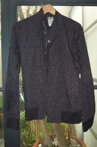carhartt mens sz M light charcoal grey patterned jacket ex condition