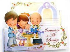 24 Invitaciones de Mi Bautizo (Spanish Baptism  Christening invitations Favors