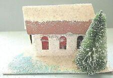 "VINTAGE CHRISTMAS PUTZ HOUSE=JAPAN = 2 1/4 "" TALL   # 14"