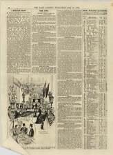 Original 1892 laiton et cuivre travail armurier brasero Company Colman Street