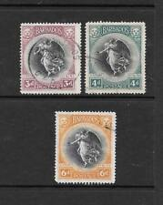 1920 King George V  SG206 to SG208 inc.  Set of 3 Victory Set  Used BARBADOS