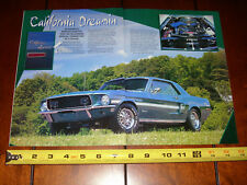 1968 FORD MUSTANG GT/CS CALIFORNIA SPECIAL - ORIGINAL 1998 ARTICLE