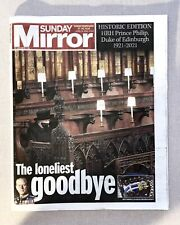 More details for sunday mirror newspaper - funeral of prince philip - rare - 18th april 2021