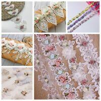 1Yard Spitzenborte Besticktes Blumenband Hochzeitskleid Kleidung DIY Nähen Dekor