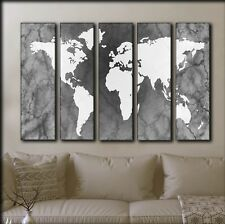 BIG SET World Map Canvas Picture On Canvas / Wall Decor On Panels Print Painting