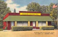 Harbert Michigan Swedish Coffee Pot Street View Antique Postcard K69128