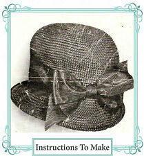 Comment faire un Vintage Downton Abbey Era Hat-un modèle de crochet pour un chapeau 1910