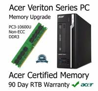 4GB Kit DDR3 Actualización Memoria Acer Veriton X2610G SFF PC Non-Ecc PC3-10600