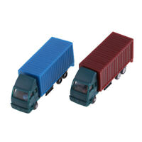 2 Pcs Model Container Truck Figure Model Building Scenery Layout 1:150 Scale