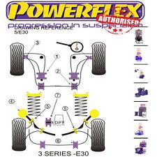 Powerflex Custom Suspension Bush Kit For BMW E30 82-91 ECCENTRIC Inc M3