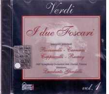 VERDI I DUE FOSCARI VOL. 1 RICCIARELLI CARRERAS CD  SEALED SIGILLATO
